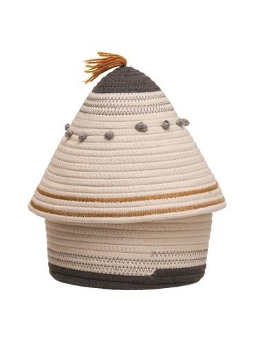 Warm Design Dekoratif Kapaklı Sepet Renkli